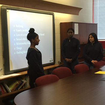 Child Guidance Guides TOR Eighth Graders in  Developing Suicide Prevention Project